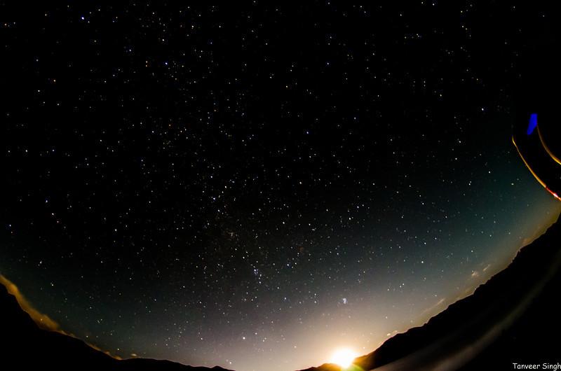 Moonrise on Pangong