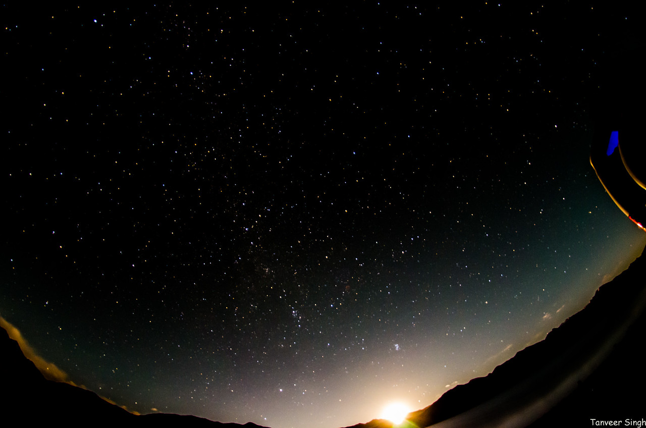 Moonrise on Pangong