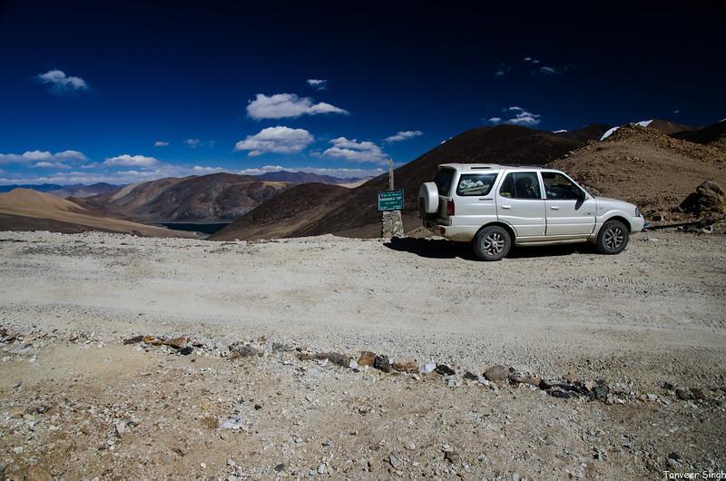 Kakasang La pass, higher than the  famed Khardungla. Mirpal Tso in background