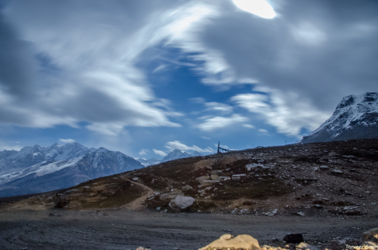A night at the Rohtang Pass