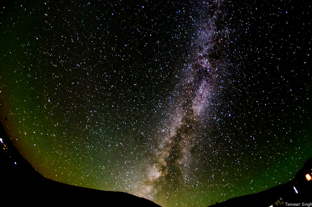 The milky way shows the way. This is Hanle!
