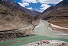 'Sangam' of Indus and Zanskar rivers