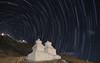 Star Trails over Shanti Stupa