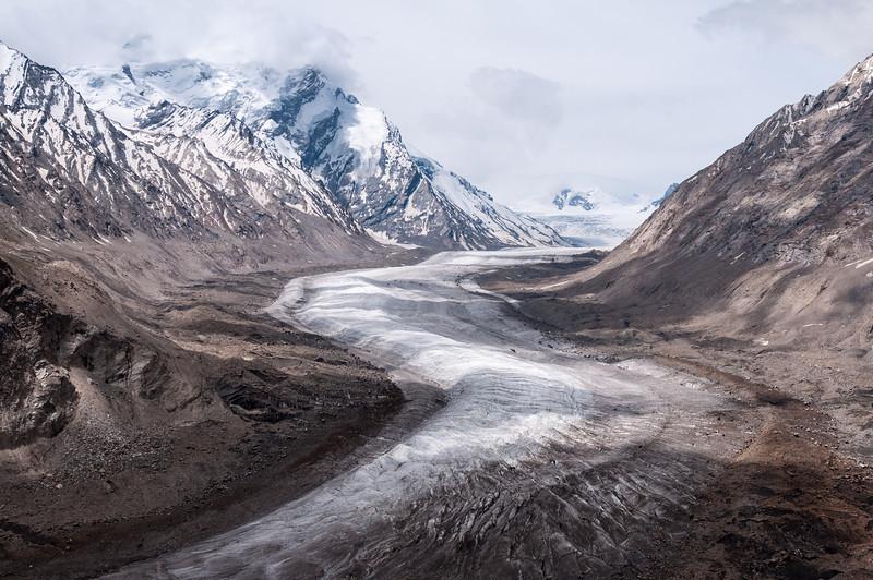 The Drang Drung Glacier, Zanskar Valley seen from Pensi La
