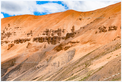 Natural Rock Formations Near Pang | Along Manali-Leh Highway