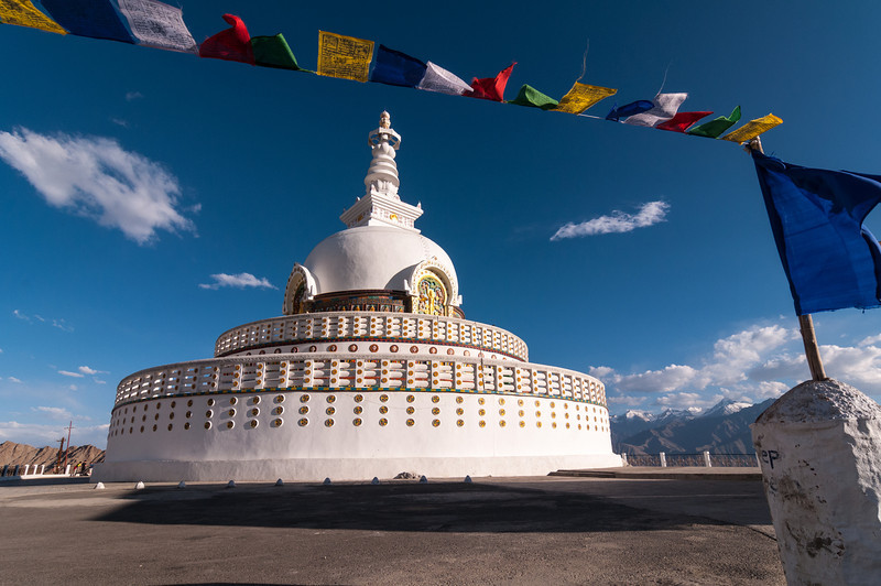 The Japanese Shanti Stupa, or Peace Pagoda as its sometimes referred to. Leh, Ladakh