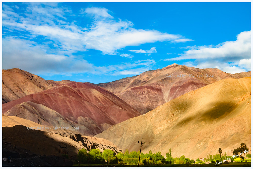 Colourful Mountains in Zanskar Valley