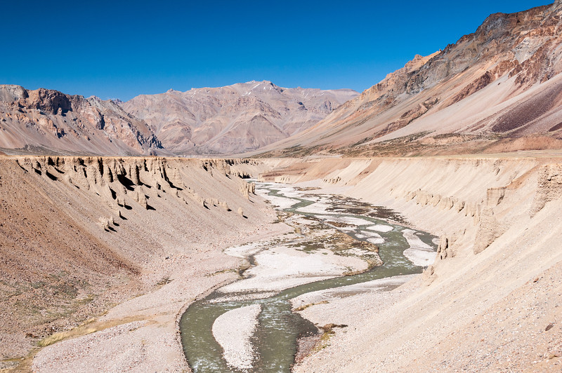 The Yunam river parallel's the road through Sarchu before joining the Tsarap River and eventually the Zanskar River