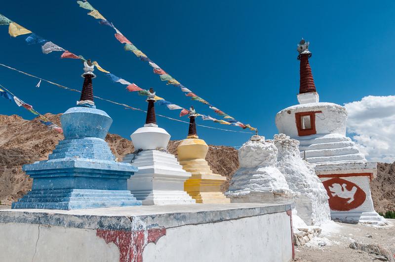 Stupas at Phyang Gompa, Ladakh