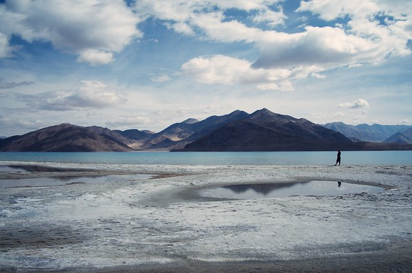 Maryann at Pangong Lake
