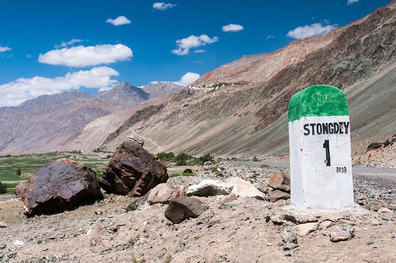Approaching Stongdey Gompa in the Zanskar Valley