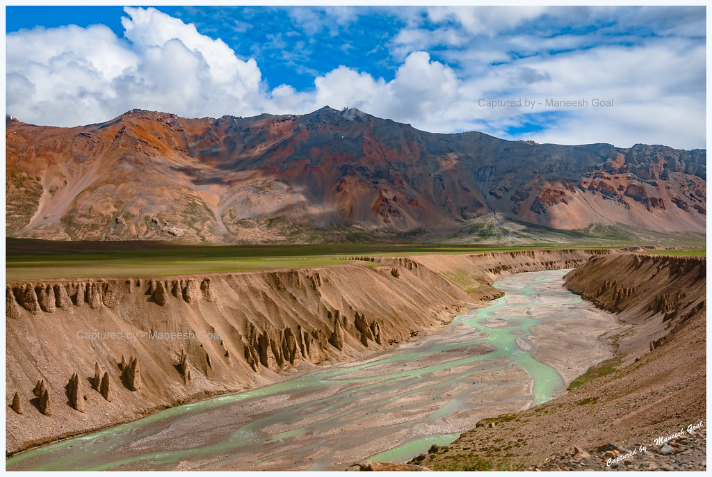 Natural Rock and Sand Formations Along the Sumkhel Lungpa River (Near More Plains)