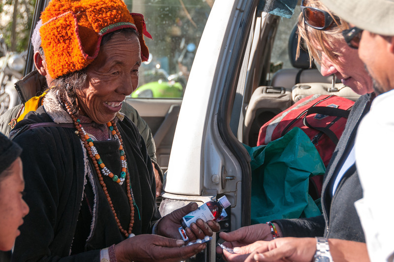 Local people are delighted to receive some outside help for their ailments. Stongdey Gompa, Zanskar
