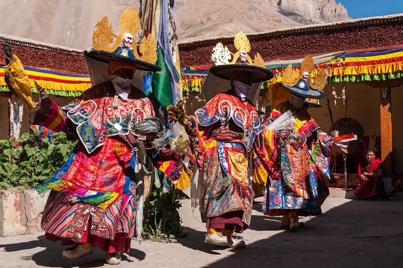 Tibetan Buddhist mythology brought to life at Stongdey Gompa's festival