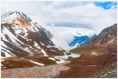 Suraj Tal, near Bara-lacha La in Lahaul & Spiti District of Himachal Pradesh