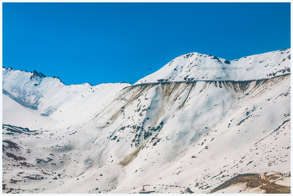 Drive to Khardung La (where the tower is) - World's Highest Motorable Road
