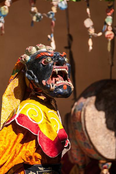 Mahakala 'The Great Black One' is brought to life at Stongdey Gompa's festival. Zanskar