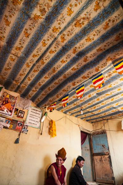 The Rimpoche's livingroom. Stongdey Gompa, Zanskar