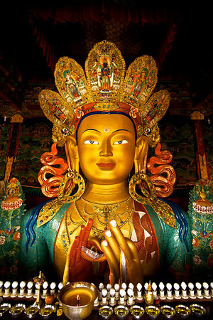 Maitreya or the Future Buddha at thiksey monastery