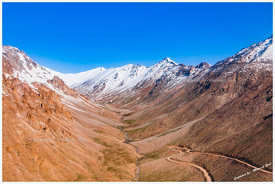 A Loopy Drive to Khardung La + Stream Created by Melting Snow (Near South Pullu)