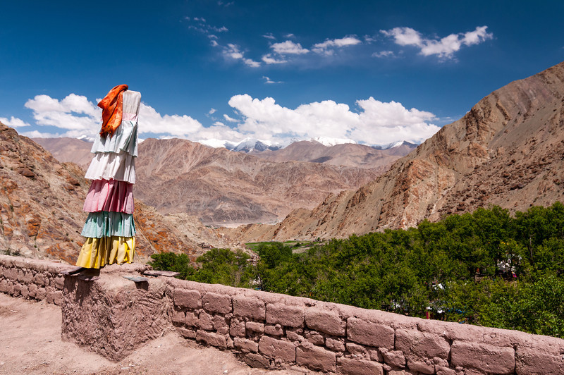 A view towards the Ladakh Range from the roof of Hemmis Gompa