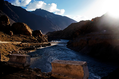 On NH1 alongside Indus river, Ladakh