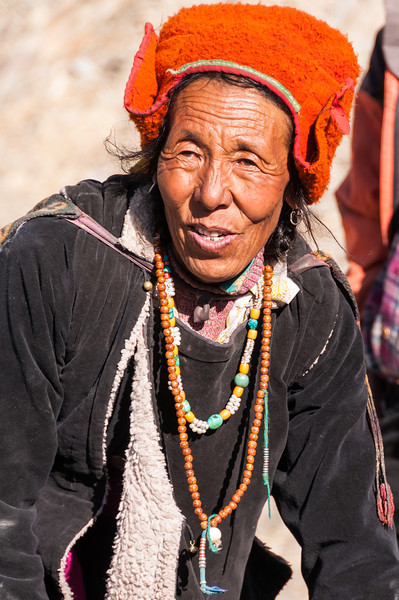 A satisfied local departs the impromptu clinic held by Blazing Trails and Dr Saleem at Stongdey Gompa, Zanskar