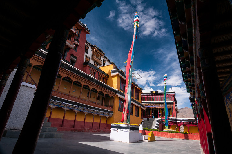 The courtyard at Thiksey Gompa. Ladakh