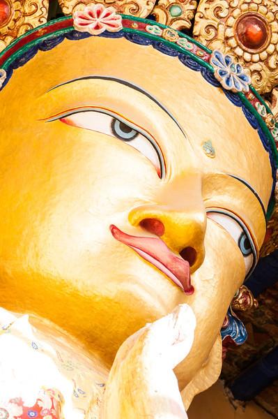 Housed inside the Tsemo Gompa at Namgyal Tsemo is this Maitreya (Future Buddha)