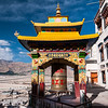 Spitok Gompa looks out across Leh airport and the Ladakh Range beyond