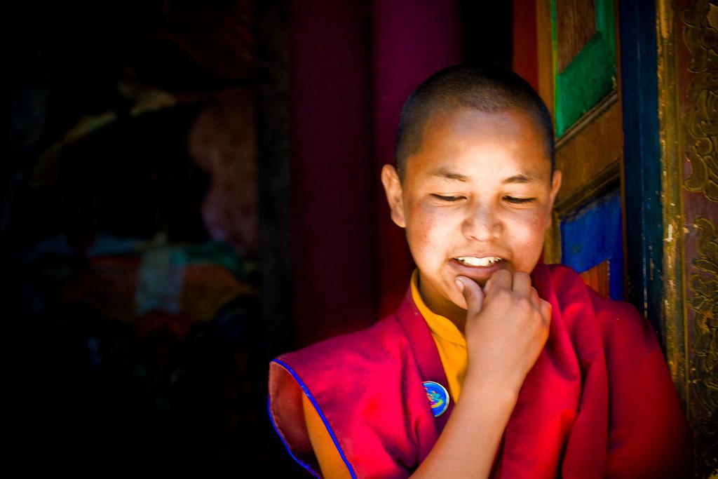 """Bright Lama""<br /> <br /> Hemis Monastery, Ladakh."