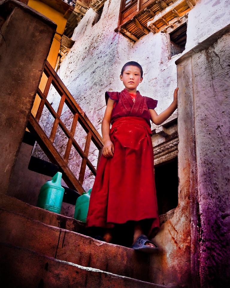 """""""Lama Drama""""<br /> <br /> Thiksey Monastery, Ladakh."""