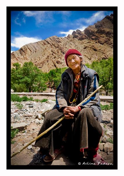 """Smile for a dollar"" <br /> <br /> Outside Hemis Monastery, Ladakh."
