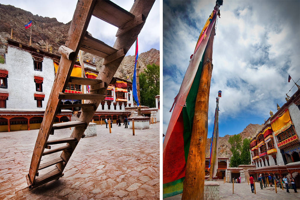 Hemis Monastery, Ladakh.<br /> <br /> Hemis Monastery is a Tibetan Buddhist monastery (gompa) of the Drukpa Lineage. Situated 45 km from Leh, the monastery was established in 1672 by the Ladakhi king Senge Namgyal.