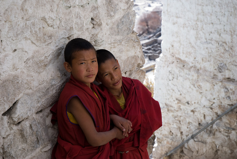 Young Monks<br /> Thiksey, Ladakh-India<br /> 2008