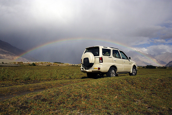 Rainbows in the Nubra valley
