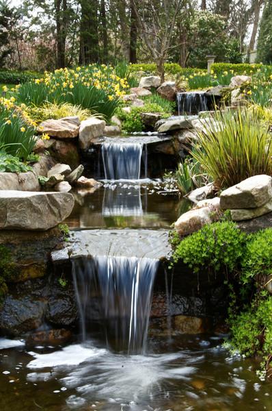 Cascading falls in Yellow Garden.