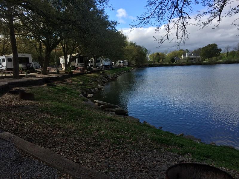 Pleasant lakeshore