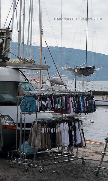 Shorts and racing boat