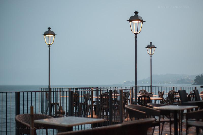 Rainy evening at the bar