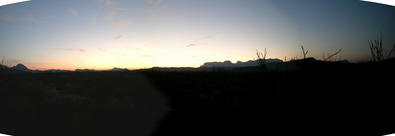 Looking east from within the Big Bend N.P. in the morning.