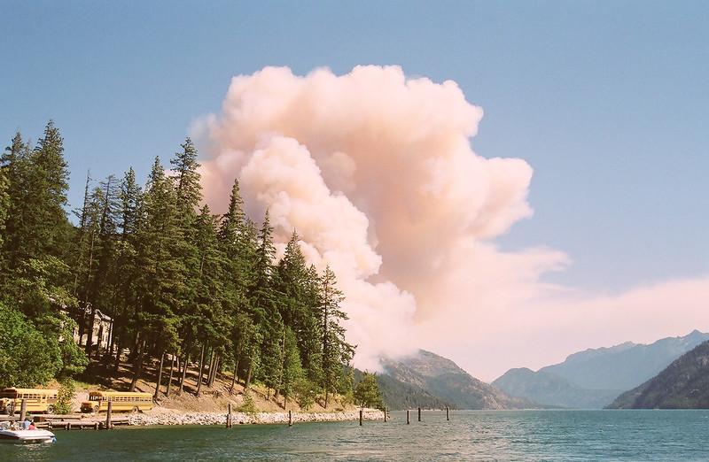 Beginnings of the Flick Creek Fire, Stehekin, WA