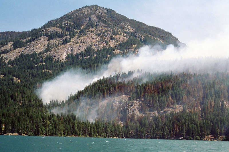 Flick Creek Fire, on the way out