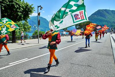 June  18-, 2017- Italy /Switzerland  Milan-Venice-Verona-Lake Como-Lugano trip  Sun 6/18  Lugano.- parade  Credit: Robert Altman