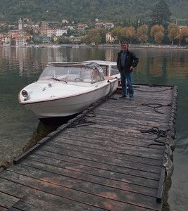 The boat from the boat tour (and driver - nice bloke - some Italian name!)