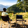 Kermit chairs at our campsite on Lake Crescent