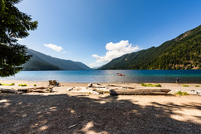 The beach at Lake Crescent Lodge