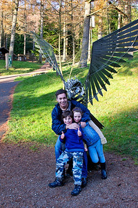 Rebekah Peter and Alexander at Whinlatter Visitor's Centre
