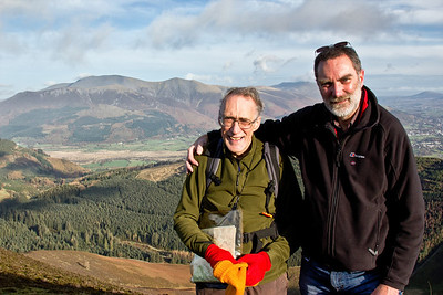 My brothers Robin and Gordon - ascending Grisedale Pike