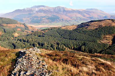 View back to Skiddaw from Grisedale Pike